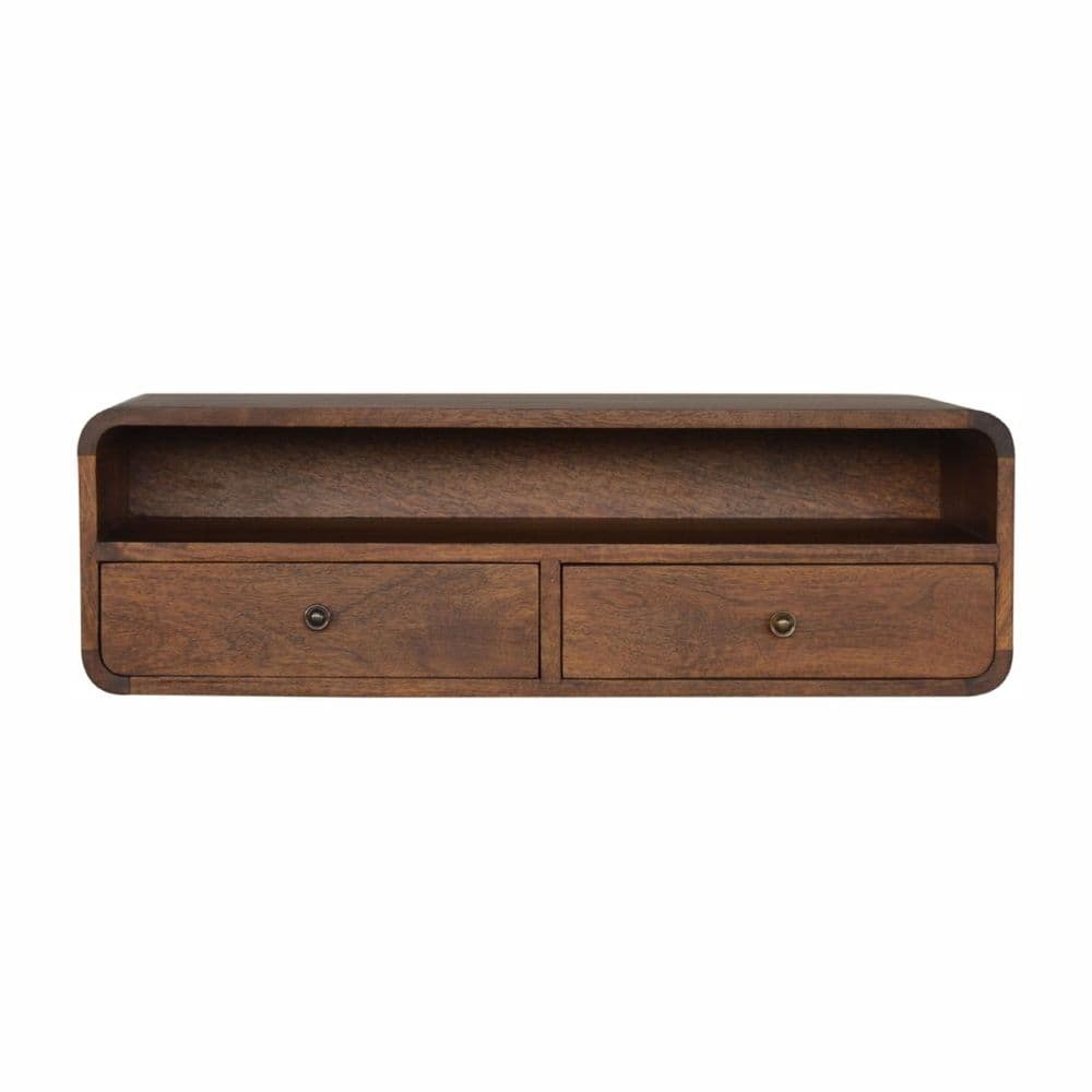 Wall Mounted 2 Drawer Console Table
